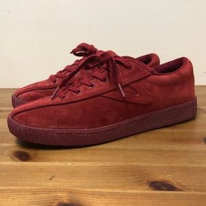 Tretorn red suede sneakers  (7.5)